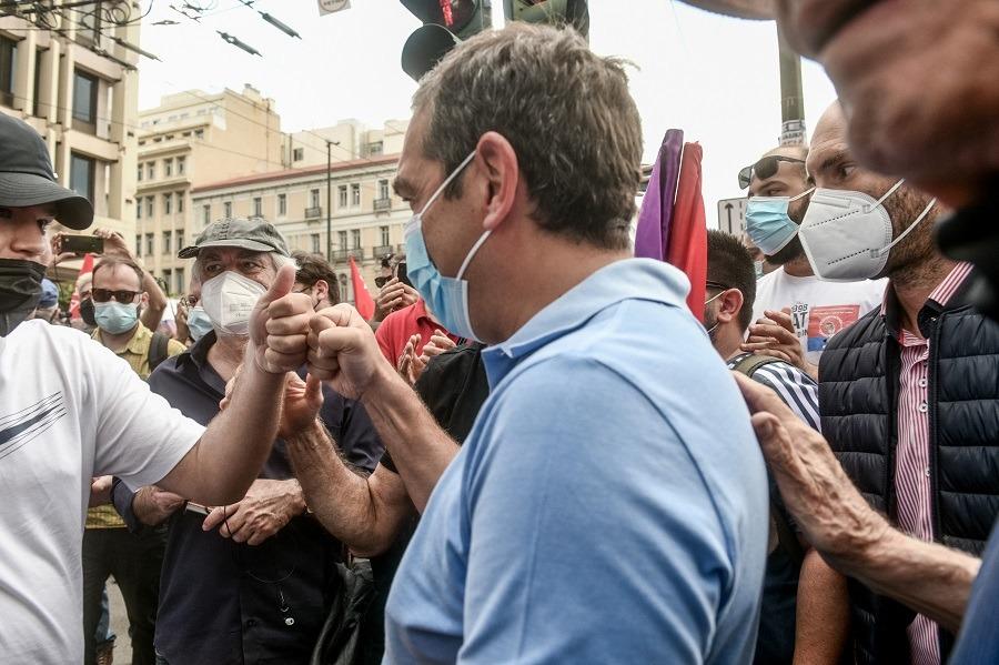 Γεννηματά, Κουτσούμπας, Τσίπρας παρόντες στις απεργιακές συγκεντρώσεις